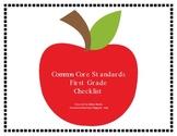 First Grade Common Core Standards Lesson Plan Checklist