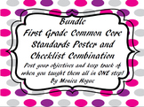 First Grade Common Core Standards Poster and Checklist Bundle