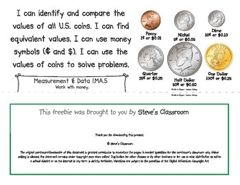 Common Core Standards I Can Statements for 1st Grade - Massachusetts Additions