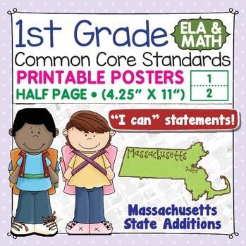 Common Core Standards I Can Statements for 1st Grade - Mas