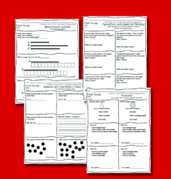 First Grade Common Core State Standard Mathematics Assessment Pack