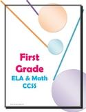 Common Core  Checklist First Grade ELA and Math