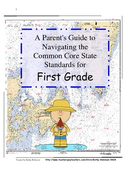 First Grade Back to School Parent Guide's to Navigating the Common Core -36 Pgs.
