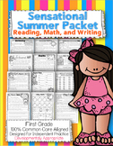First Grade Common Core: Summer Packet {Reading, Math, Writing, and More}