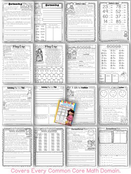 Summer Review Packet 1st Grade Common Core: {Reading, Math, Writing, and More}
