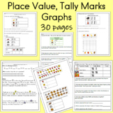 Place Value, Tally Marks, and Graphs, 30 pages