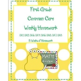 First Grade Common Core Weekly Homework OA (8 Weeks of HW)