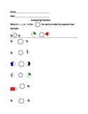 First Grade Comparing Fractions Worksheet