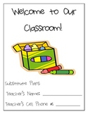 First Grade Complete Sub Plans for Your Sub Binder