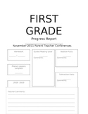 First Grade Conference/Progress Report