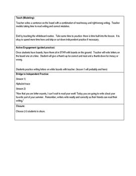 First Grade Conventions of writing unit