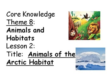 First Grade Core Knowledge Vocabulary Poster CCSS Unit 8 Animals and Habitats
