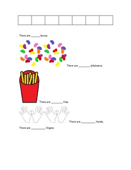 First Grade Counting Groups Sheet (Investigations Math)