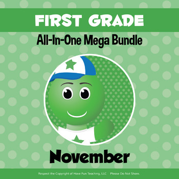 First Grade Curriculum Bundle (NOVEMBER)