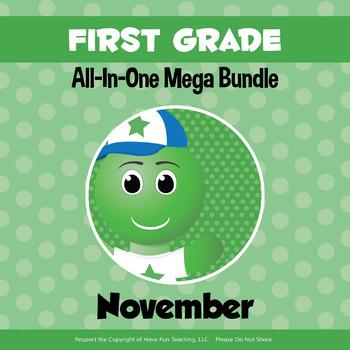 First Grade Curriculum Bundle (NOVEMBER)