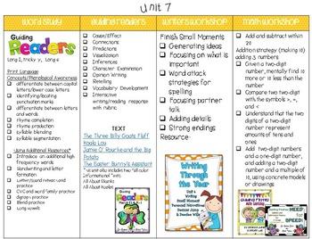 First Grade Curriculum Map - FREE