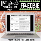 First Grade Curriculum Map with CCSS   Distance Learning