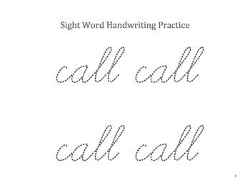 First Grade: Cursive Sight Words Handwriting Foldables!