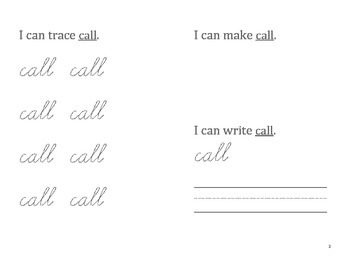 First Grade: Cursive Sight Words Handwriting Foldables!