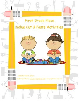 First Grade Cut and Paste Place Value Activities