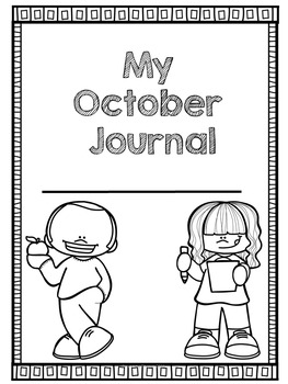 First Grade DAILY October Journal with Journal Prompts   READY SET PRINT!