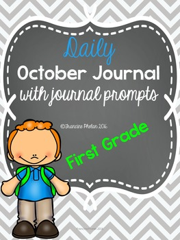 First Grade DAILY October Journal with Journal Prompts   R