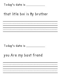 First Grade Daily Edit Workbook