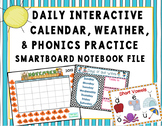 Smartboard Calendar, Weather, & Morning Meeting Interactive Notebook File