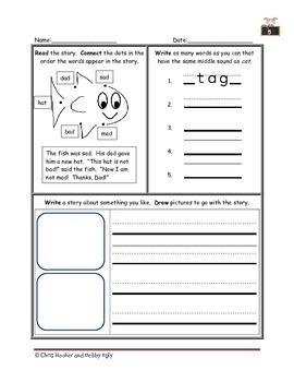 1st Grade Language Arts Worksheet Pack (September) {Common Core Aligned}