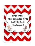 1st Grade Language Arts Worksheet Pack (September) {Common