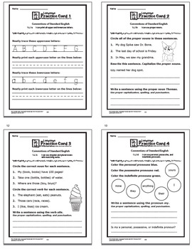"""1st Grade LANGUAGE Daily Practice (""""I Can"""" ELA Posters + 1st Grade Morning Work)"""