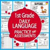 1st Grade Language Practice – Daily Grammar Review + ELA Assessments