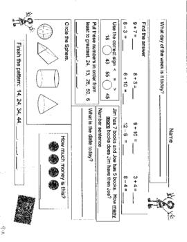 First Grade Daily Math