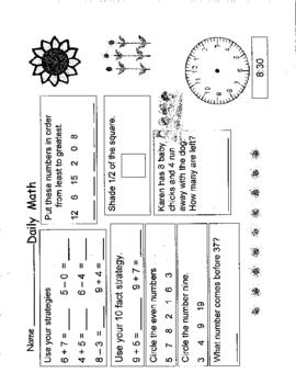 First Grade Daily Math -2
