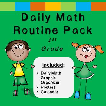 First Grade Daily Math (***FREEBIE***EDITABLE!)