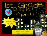 First Grade Daily Math April - NO PREP! (Common Core Aligned)