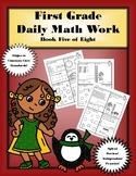 First Grade Daily Math: Book Five