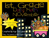 First Grade Daily Math November - NO PREP! (Common Core Aligned)