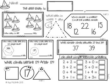 First Grade Daily Math October - NO PREP! (Common Core Aligned)