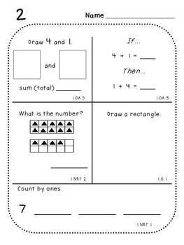 First Grade Daily Math (Pack 1)