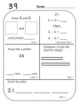 First Grade Daily Math (Pack 2)
