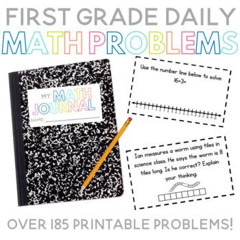 First Grade Daily Math Problems