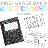 First Grade Daily Math Problems: Graphing