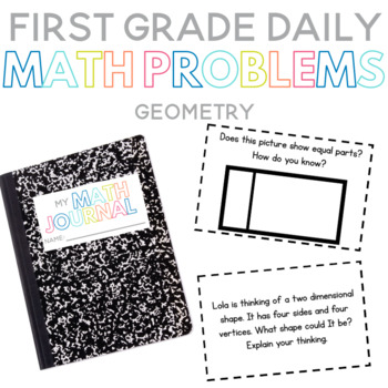 First Grade Daily Math Problems: Geometry