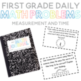 First Grade Daily Math Problems: Measurement and Time