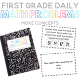 First Grade Daily Math Problems: More Concepts