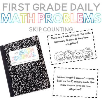 First Grade Daily Math Problems: Skip Counting