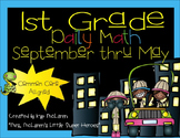 First Grade Daily Math September thru May - NO PREP! (Common Core Aligned)