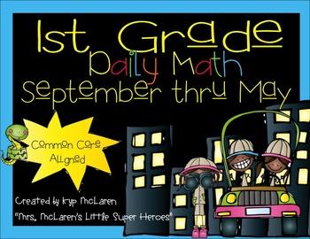 First Grade Daily Math September thru May - NO PREP! (Comm