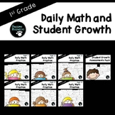 First Grade Daily Math and Student Growth Bundle (Standards-Aligned)